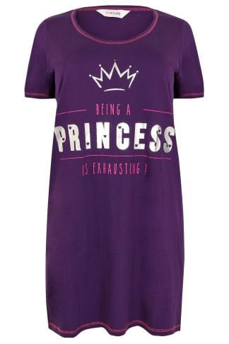 "Purple ""Being A Princess Is Exhausting"" Nightdress"