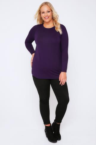 Day Purple Long Sleeve Soft Touch Jersey Top 102700