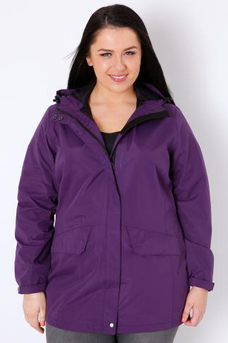 Waterproof & Shower Resistant Purple Outdoors Waterproof & Windproof Hooded Shield Jacket 103078