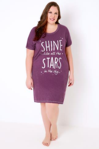 "Purple ""Shine Like All The Stars"" Nightdress"
