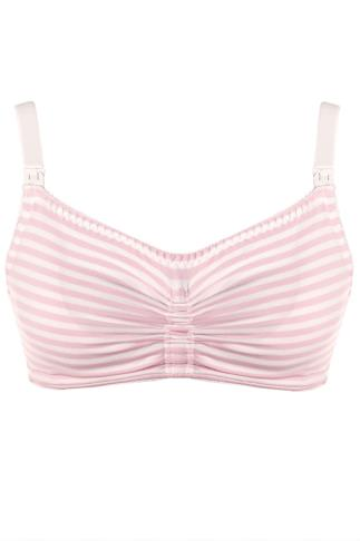 ROYCE Pink & White Stripe Candy Blossom Non-Wired Maternity Bra 138422