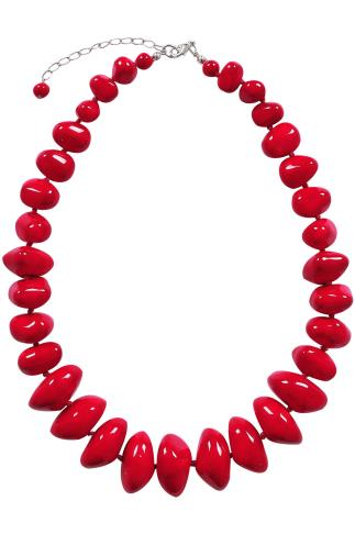 Necklaces Red Stone Statement Necklace 152118
