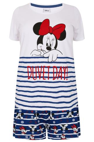 Red, White & Blue Disney Minnie Mouse Pyjama Set