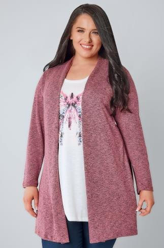 2 In 1 Rose Pink & Multi 2 In 1 Fine Knit Cardigan & Butterfly Print Top 132221