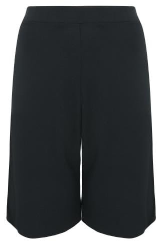 SCARLETT & JO Black Wide Leg Cropped Trousers