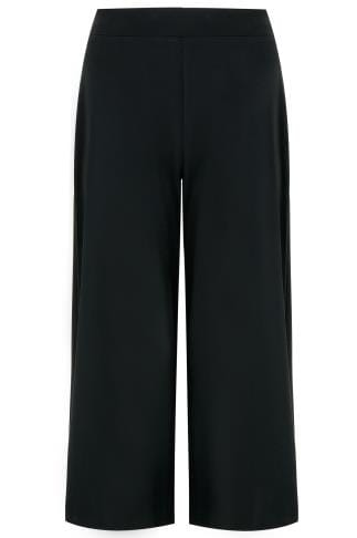 SCARLETT & JO Black Wide Leg Trousers