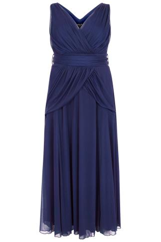SCARLETT & JO Midnight Blue Marilyn Maxi Dress With Tie Waist