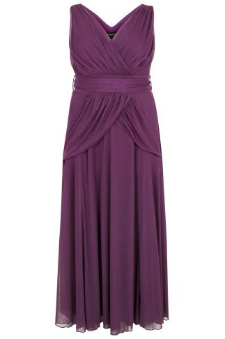 SCARLETT & JO Purple Marilyn Maxi Dress With Tie Waist