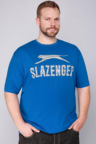 T-Shirts SLAZENGER Blue Short Sleeve T-Shirt 110301