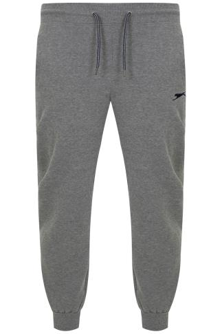 SLAZENGER Grey Marl Jogging Bottoms
