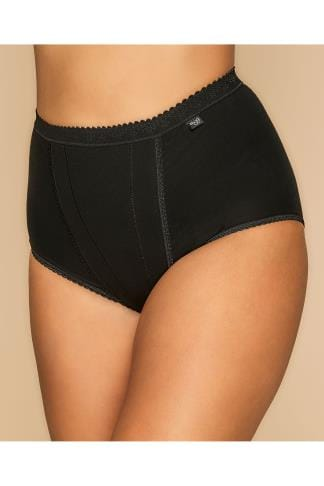 Briefs & Knickers SLOGGI 2 PACK Black Control Maxi Briefs 014081
