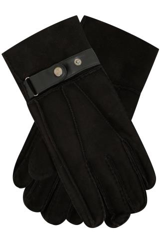 BadRhino Black Genuine Sheepskin Gloves
