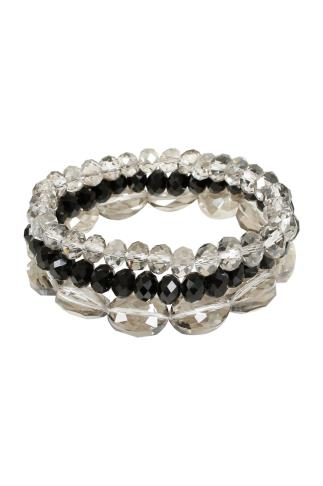 Grey & Black Stretch Bracelet 3 Pack