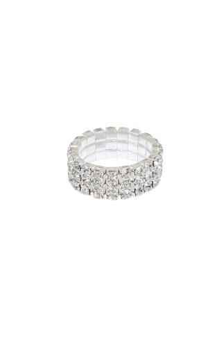Silver Diamanté Stretch Ring