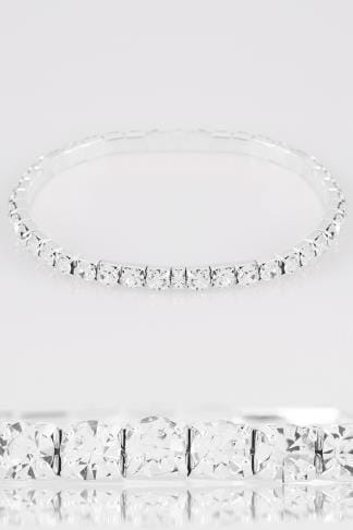 Bracelets Silver Diamante Stretch Bracelet 152336
