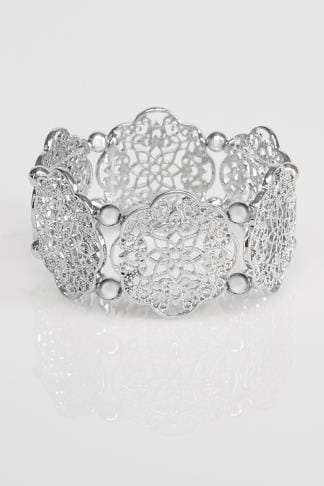 Silver Filigree Stretch Bracelet