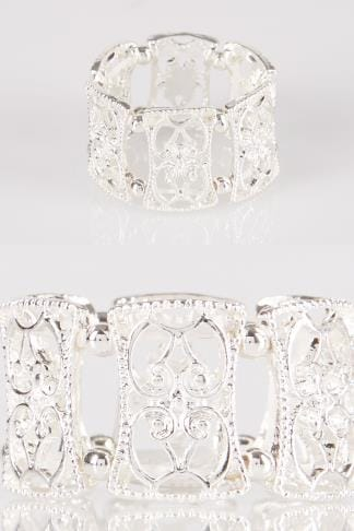 Rings Silver Filigree Stretch Ring 152452