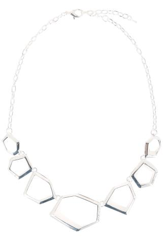 Jewellery Silver Geometric Necklace 152122