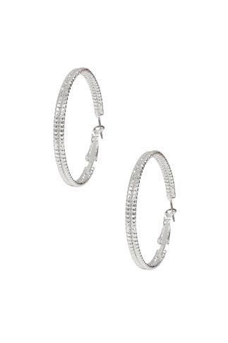 Silver Hoop Wrap & Textured Hoop Earrings