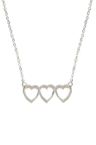 Necklaces Silver Love Heart Necklace & Earring Set 102862