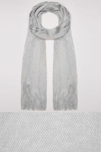 Schals & Tücher Silver Shimmer Scarf With Fringing 152477