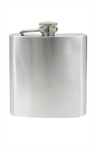 Silver Stainless Steel 6 Fl oz Hip Flask