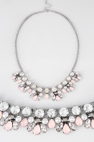 Necklaces Silver Statement Jewel Necklace 152393