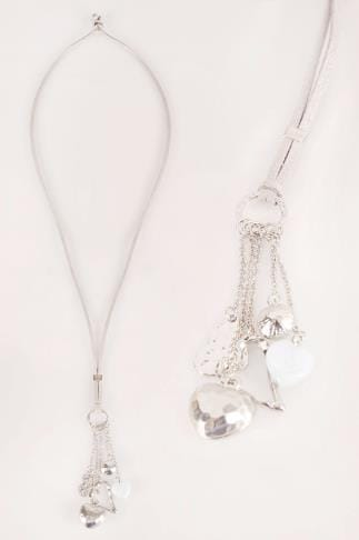 Jewellery Silver Tassel Charm Necklace 152132