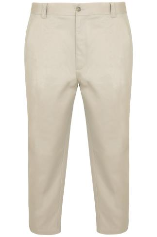 Stone Stretch Waist Chino Trousers - TALL