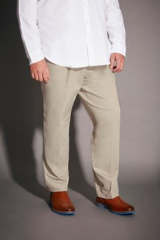 Chinos & Cords Stone Stretch Waist Chino Trousers 090367