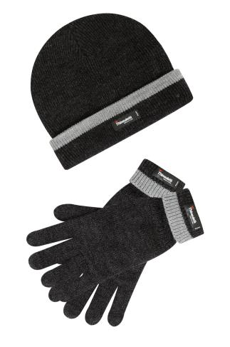 Hats & Scarves THINSULATE Grey Marl Lined Hat & Gloves 101945
