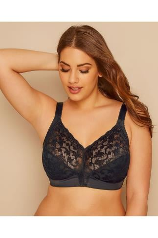 TRIUMPH Black Lace Non-Wired Delicate Doreen Bra 138402