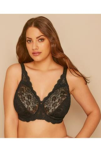 Non-Padded Bras TRIUMPH Black Lace Underwired Amourette 300 Bra 138426