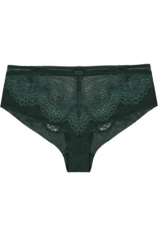 Briefs TRIUMPH Green Full Lace Briefs With Mesh Inserts 138432