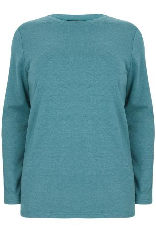 Turquoise Long Sleeve Sweat Top