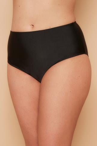 Bikinis & Tankinis WOLF & WHISTLE Black High Waist Bikini Bottoms 138239