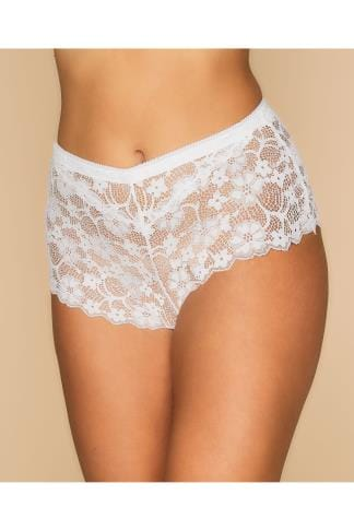 Briefs & Knickers White All Lace Short 014194