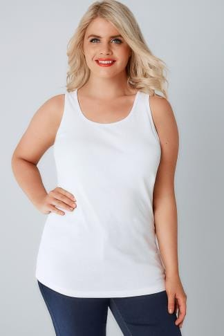 Vests & Camis White Cotton Vest Top 132022