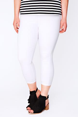 White Denim Cropped Jeggings
