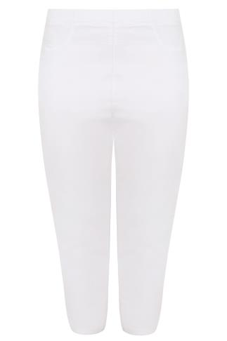 White Pull On Stretch Jeggings