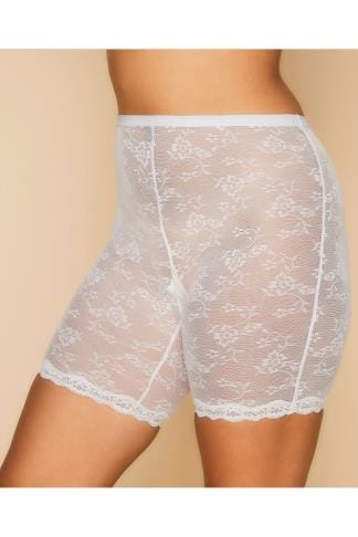 Shapewear White Lace Mesh Thigh Smoother 014302