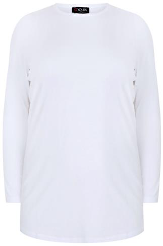 White Long Sleeve Soft Touch Jersey Top