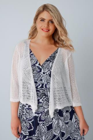 Shrugs White Popcorn Crochet Cropped Shrug 124003
