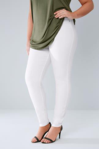 Jeggings White Pull On Stretch Jeggings 142011