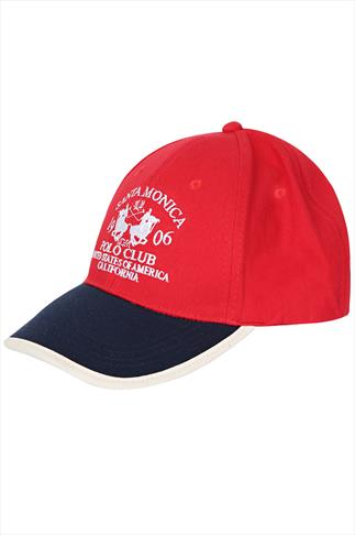 Santa Monica Red & Navy Baseball Cap