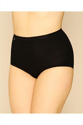 Briefs Knickers SLOGGI 3 PACK Black Basic Maxi Briefs 014071