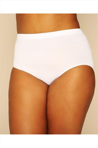 Shapewear White Seamless Light Control Brief 019952