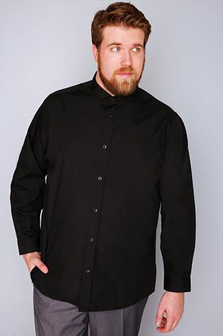 Smart Shirts Slate Grey Black Formal Long Sleeve Shirt - TALL 054647
