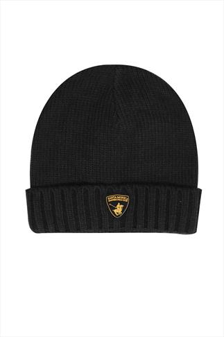 SANTA MONICA Black Beanie Hat