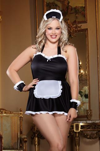 "Lingerie Sets DREAMGIRL ""Maid Me Naughty"" Costume 4 Piece Set 014253"
